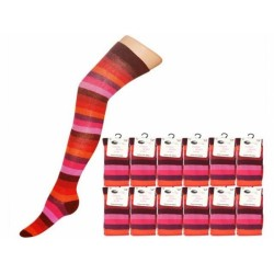 Over The Knee Stripey Socks Autumn Rainbow
