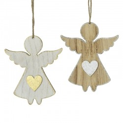 Angel Wooden Hanging Decoration