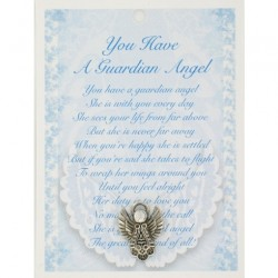 Angel Pin & Sentiment Card You Have A Guardian Angel