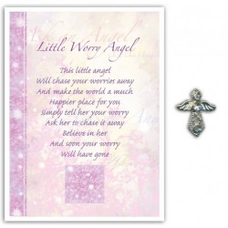 Angel Pin & Sentiment Card Little Worry Angel