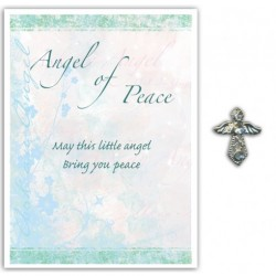 Angel Pin & Sentiment Card Angel Of Peace