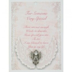 Angel Pin & Sentiment Card For Someone Very Special