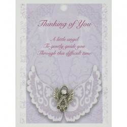Angel Pin & Sentiment Card Thinking Of You