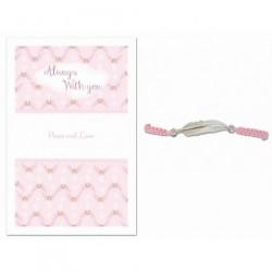 Angel Feather Bracelet Peace & Love