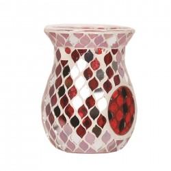 Oil Burner Red Teardrop Mirror Mosaic