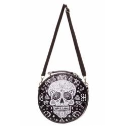 Banned Skull Round Handbag