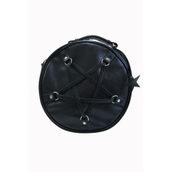 Banned Pentagram Round Hand Bag
