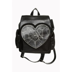 Banned Cobweb Heart Backpack