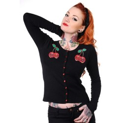 Banned Cherry Skulls Cardigan