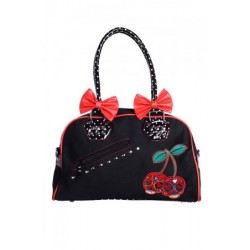 Banned Cherry Skulls Hand Bag