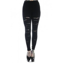 Banned Slashed Leggings With Lace