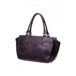 Banned Bats Hand Bag-Purple