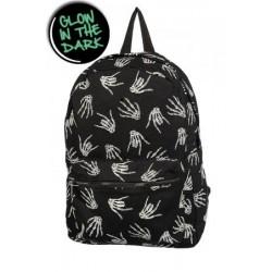 Banned Skeleton Hands Backpack-Glow In The Dark!