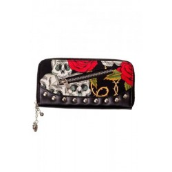Banned Skull & Roses Purse
