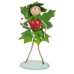 Christmas Fairy Garden Metal Accessories Mini Holly Fairy