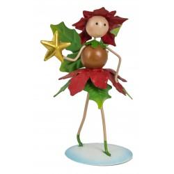 Christmas Fairy Garden Metal Accessories Mini Pandora Poinsettia Fairy