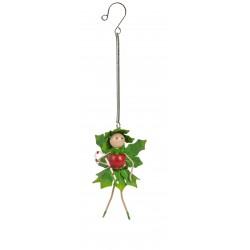 Christmas Fairy Garden Metal Accessories Springer Holly Fairy