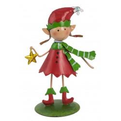 Christmas Fairy Garden Metal Accessories Mini Lucie The Elf