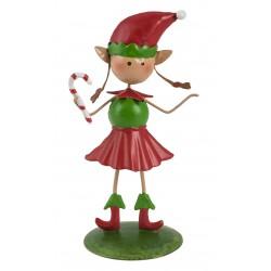 Christmas Fairy Garden Metal Accessories Mini Candy The Elf