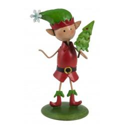 Christmas Fairy Garden Metal Accessories Mini Rudolph The Elf