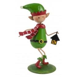 Christmas Fairy Garden Metal Accessories Mini Tickle The Elf