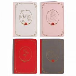 Disney Notebook Beauty & The Beast Set of 4