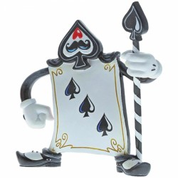 Disney Miss Mindy Alice In Wonderland Three of Spades Card Guard Figurine