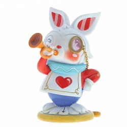 Disney Miss Mindy Alice In Wonderland White Rabbit Figurine