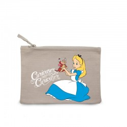 Disney Cosmetic Bag Alice In Wonderland Curiouser & Curiouser