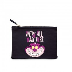 Disney Cosmetic Bag Alice In Wonderland We're All Mad Here