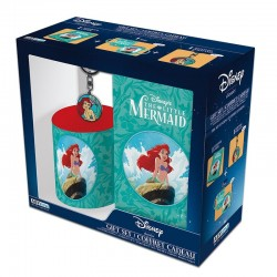 Disney Gift Set The Little Mermaid Ariel Mug, Notebook & Keyring