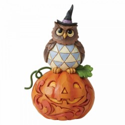 Heartwood Creek by Jim Shore Owl and Pumpkin