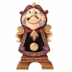 Disney Traditions Beauty & The Beast Cogsworth Keeping Watch