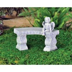 Fairy Garden Accessories Cherub Bench