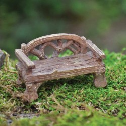 Fairy Garden Accessories Rustic Bench