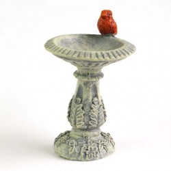 Fairy Garden Accessories Cardinal Birdbath
