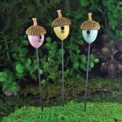 Fairy Garden Accessories Bird House-Pink, Yellow or Blue
