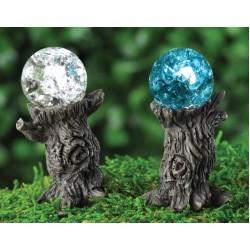 Fairy Garden Accessories Gazing Ball-Clear or Blue