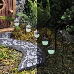 Fairy Garden Accessories Glow In The Dark Acorn Lights