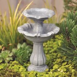 Fairy Garden Accessories Double Bird Bath