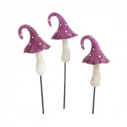 Fairy Garden Accessories Mini Toadstools Purple