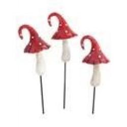 Fairy Garden Accessories Mini Toadstools Red