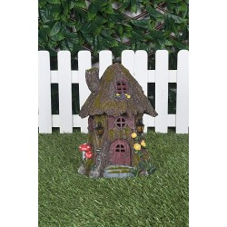 Fairy Garden House Grass Roof Cottage