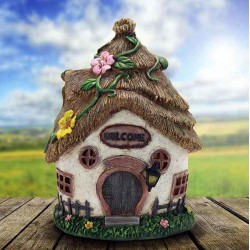 Fairy Garden House Thatched Cottage