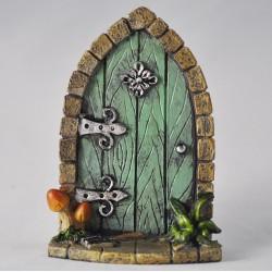 Fairy Garden Accessories Arched Fairy Door Green