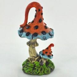Fairy Garden Accessories Toadstool Orange & Blue