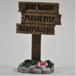 Fairy Garden Accessories Fairy Garden Please Step Carefully Sign