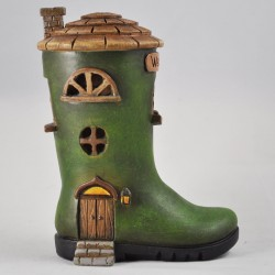 Fairy Garden House Small Wellington Boot Cottage