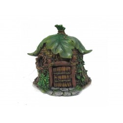 Fairy Garden House Leaf Loft