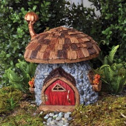 Fairy Garden House Shingletown Mushroom Gnome Cottage